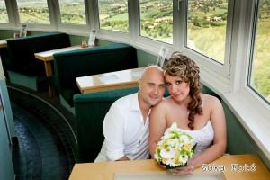 Esküvői fotózás a tv toronyban